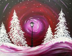 Winter painting, tints/shades, Narnia inspired