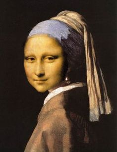 Mona with a Pearl Earring by Debora, 2008. Digital combination of the two famous paintings