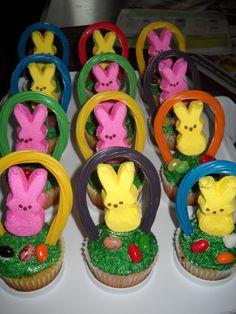 peep easter basket cupcakes
