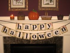 Vintage Large Happy Halloween Double Garland Banner Sign by Vintage Paris Market. $24.00, via Etsy.