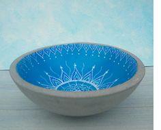 Untersetzer,Vogeltränke,in wunderschönem blau glasiert,25cm
