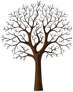 tree template--useful for arts and crafts