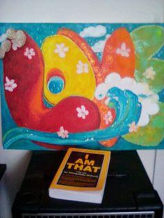 Acrylic Love painting...