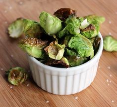 Craving carb-heavy potato chips? Opt for our roasted brussels sprouts chips instead. High in fiber and low in calories, they only take 10 minutes to make! Photo: Lizzie Fuhr
