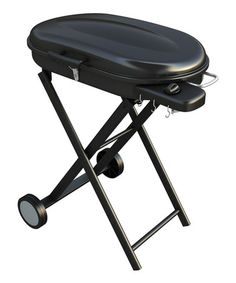 Be the first.....look at this #zulilyfind! Black Portable Gas Grill & Rolling Cart #zulilyfinds