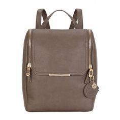 Buy Grey Nica Penny Backpack from our Handbags, Bags & Purses range at John Lewis & Partners. Grey Backpacks, Backpack Online, Work Wardrobe, John Lewis, Leather Backpack, Purses And Bags, Shoulder Bag, Handbags, Stylish