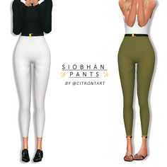 SIOBHAN PANTS here are some simple, high-waisted, skintight pants with a small black and gold belt! a staple that all your sims should have ;-) please enjoy!! • comes in 12 neutral swatches from a...