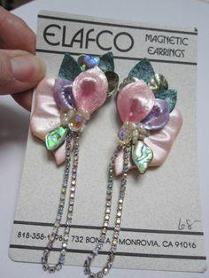 Pink Magnetic Earrings