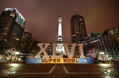 Super Bowl XLVI in Indianapolis- Cant Wait for next weekend and to be apart of this!