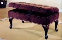 Are you looking for Storage Benches? get Traditional Nailhead Trim Dark Brown Fabric Storage Bench By Coaster here with special price ! Rating: of 5 Indoor Storage Bench, Kitchen Storage Bench, Storage Bench With Cushion, Tufted Storage Bench, Entryway Bench Storage, Bed Bench, Bench Cushions, Bed Storage, Storage Benches