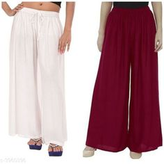 Palazzos Women's Solid Pack of 2 Palazzo Fabric: Rayon Waist Size: Up To 28 in To 42 in (Free Size ) Length: Up To 39 in Type: Stitched Description: It Has 2 Pieces Of Women's Palazzos  Pattern: Solid Country of Origin: India Sizes Available: Free Size, 28, 30, 32, 34, 36, 38, 40, 42   Catalog Rating: ★4.1 (460)  Catalog Name: New Fabulous Rayon Women's Palazzos Vol 15 CatalogID_558588 C79-SC1039 Code: 273-3960396-498