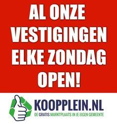 Net als alle andere dagen van de week. 24 uur per dag, 7 dagen per week, 365 dagen per jaar geopend. #Koopplein.nl www.koopplein.nl/middendrenthe Ook zijn wij uiteraard met de Pinksteren geopend!  Iedereen alvast een goed Pinksterweekend toegewenst!