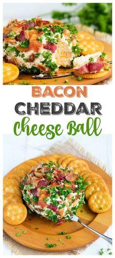 Bacon Cheddar Cheese Ball   gatherforbread.com