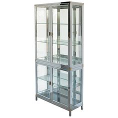 Chrome and Brass Vitrine   From a unique collection of antique and modern vitrines at https://www.1stdibs.com/furniture/storage-case-pieces/vitrines/