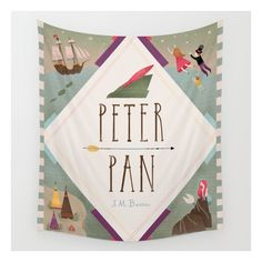 Peter Pan Wall Tapestry (£26) ❤ liked on Polyvore featuring wall tapestries