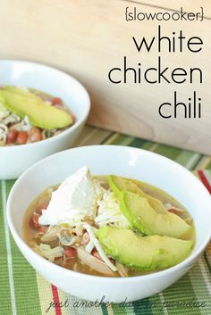 Just Another Day in Paradise: White Chicken Chili (Slow Cooker Saturday)