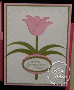 Stampin Up Blossom Petals Punch card
