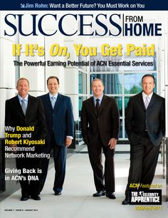 The ACN Co-Founders posing for a SUCCESS magazine photo. #ACN #CoFounders #GregProvenzano