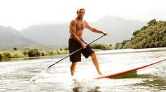 Laird Hamilton Goes Paddleboarding.  Try the Muskoka Paddle Boards from http://www.BeBalancedEnergy.com