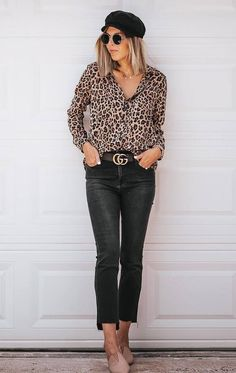 39ad4bb8 30 Casual Spring Outfits Will Have You Wishing To Bloom. Leopard BlouseNew  ...
