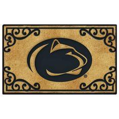 "Penn State Door Mat by The Memory Company. $52.99. Coir Fiber Door Mat. Features team logo, mascot.. 24"" tall by 39"" wide.. NCAA Penn State Door Mat"