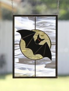 Halloween Bat  Spooky Stained Glass Halloween by gallerydelsol, $62.00