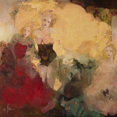 Jeu de miroir, Huile sur toile de Françoise de Felice