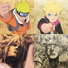 Naruto Uzumaki (Past Self) and Boruto Uzumaki || Boruto: Naruto Next Generations