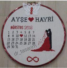 Tiny Cross Stitch, Easy Cross Stitch Patterns, Wedding Cross Stitch, Simple Cross Stitch, Cross Stitch Charts, Cross Stitch Designs, Simple Embroidery, Embroidery Kits, Cross Stitching