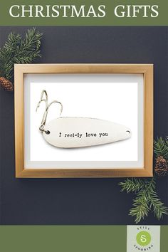 Christmas gifts for boyfriend. Xmas presents for him. Fishing lure Christmas gift for men. Christmas gifts for boyfriend. Xmas presents for him. Fishing lure Christmas gift for men. Christmas Presents For Boyfriend, Christmas Gifts For Parents, Gifts For Your Boyfriend, Diy Christmas Gifts, Boyfriend Stuff, Christmas Signs, Christmas Shopping, Bday Gifts For Him, Presents For Him