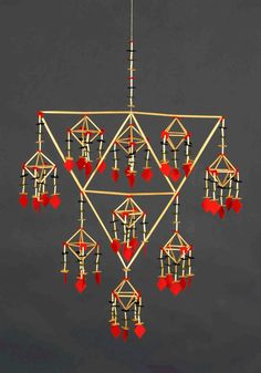 """Harlekin halmkrona himmeli """"Lusthus"""" Per Åke Backman: Arts And Crafts For Adults, Arts And Crafts Supplies, Straw Decorations, Block Craft, Christmas Paper Crafts, Mobiles, Diy Projects To Try, Craft Tutorials, Wind Chimes"""