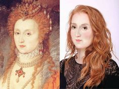 Queen Elizabeth I - Fascinating post about what people of history would look like today. Makes them seem more real to me. Anne Boleyn, Anne Of Cleves, Madame Du Barry, Elizabeth I, Isabel Woodville, Elizabeth Woodville, Wives Of Henry Viii, King Henry Viii, Hans Holbein
