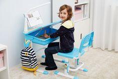 Set birou pentru copii Comfortline Bleu #kidsroom #kids #backtoschool #school Kidsroom, Back To School, Toddler Bed, Chair, Furniture, Home Decor, Accessories, Bedroom Kids, Child Bed