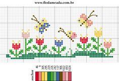 Tiny Cross Stitch, Butterfly Cross Stitch, Cross Stitch Bookmarks, Cross Stitch Borders, Modern Cross Stitch, Cross Stitch Flowers, Cross Stitch Designs, Cross Stitching, Cross Stitch Embroidery
