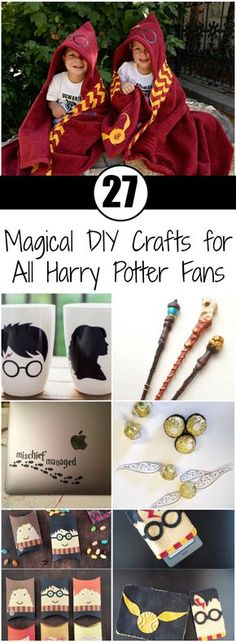 27 Magical DIY Crafts for All Harry Potter Fans Although the last Harry Potter movie came out in the hype surrounding the young wizard is still here (especially since J. Rowling is writing new novels). Harry Potter is definitely in the same ranks Harry Potter Film, Harry Potter Fiesta, Harry Potter Thema, Cumpleaños Harry Potter, Harry Potter Parties, Harry Potter Things, Harry Pptter, Harry Potter Presents, Harry Potter Themed Gifts