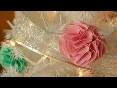 ▶ Esferas pom pom de tela y tul [DIY Navidad] - YouTube