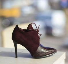 Botine cu siret si toc subtire Stiletto Heels, Shoes, Fashion, Moda, Zapatos, Shoes Outlet, Fashion Styles, Fasion, Footwear