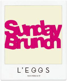 Aprovecha el domingo para hacer planes diferentes... Ven a #LEGGS y disfruta de un buen #brunch en buena compañía.  #PacoPerez #ConUnPar #Barcelona