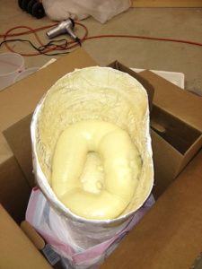 (_) Materiale utile (D) Riempire con poliuretano