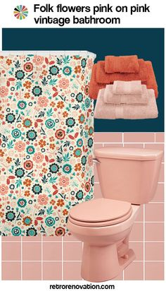 I can add navy blue accents in my pink bathroom to get a more modern look!white porcelain and sink table in blue???