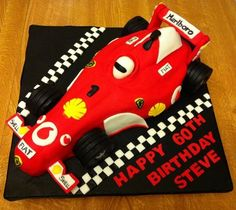 Chocolate cake with chocolate SMBC. Aniversary Cakes, Race Car Cakes, Cupcake Cakes, Cupcakes, Fathers Day Cake, Birthday Cakes For Men, Fast Times, Different Cakes, F1 Racing