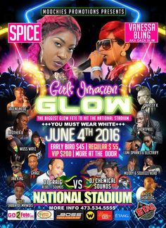 'GLOW' Girls Invasion June 4th, 2016 @ The National Stadium