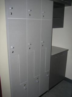 Lockers In Stainless Lamiwood Reception Counter, Entry Foyer, Joinery, Lockers, Commercial, Restaurant, Fit, Entrance Hall, Carving