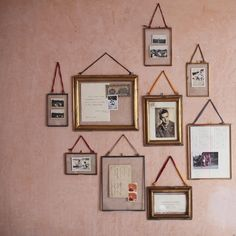 Kiko Glass Frame Copper from nkuku. We have several sizes of these brass/glass frames in store, in our basement area.