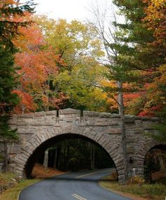 the Stone Faced Bridge at Stanley Brook in Acadia National Park.
