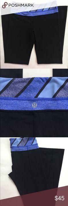 Lululemon Athletica Women's Long Pants Sz 6 Lululemon Athletica Women's Long Pants Sz 6 Black with blue and purple waist band. Excellent condition!! lululemon athletica Pants Leggings