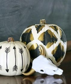 Tribal Painted Pumpkins