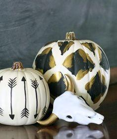 Tribal Painted Pumpkins