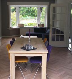 Fourteen up stuhl von Zuiver @designwonen Purple, Grey and Yellow