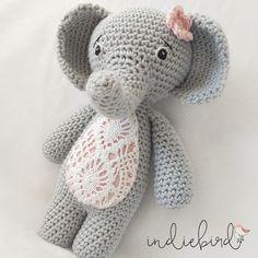 Beautiful Amigurumi Elephant http://www.indiebird.com.au/product/small-crochet-elephant/